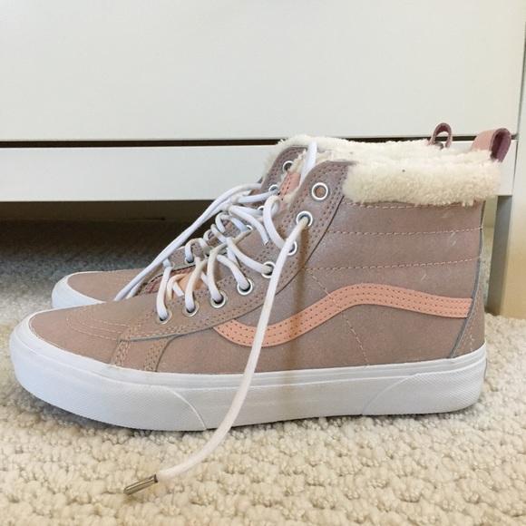 Vans Shoes | Vans Fur Lined High Tops